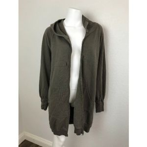Nicole Miller Hooded Sweater dress Olive Green M